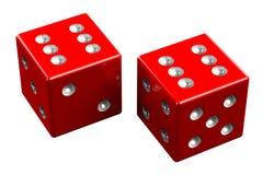 Pair of dice - Midnight Stock Image