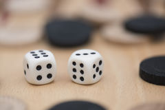 Pair of dice Royalty Free Stock Photos