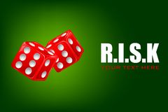 Pair of Dice in Risk Background Royalty Free Stock Photo