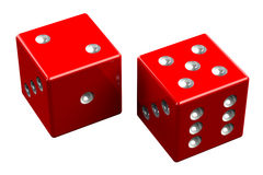 Pair of dice - Seven Out Royalty Free Stock Images