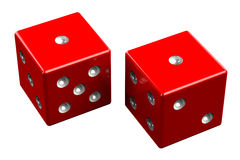 Pair of dice - Snake Eyes Royalty Free Stock Images