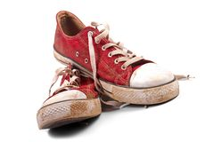 A pair of dirty sneakers Stock Photo
