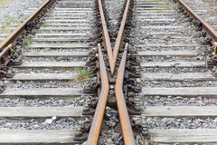 Two rail tracks Royalty Free Stock Photos