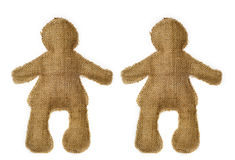 Pair of dolls. Representing a couple: friends, boyfriends, husbands and wives Royalty Free Stock Photo