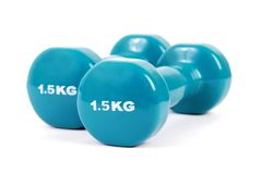 Pair of dumbbell weights Stock Photos