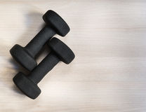 Pair of dumbbells Royalty Free Stock Image