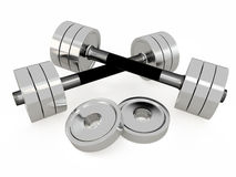 Pair of dumbbells, 3D Stock Photos