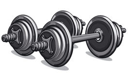 Pair of dumbbells Royalty Free Stock Photos