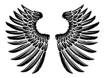 Pair of Eagle Bird or Angel Wings Stock Image