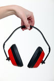 Pair of ear defenders Stock Photos