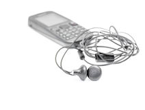 A pair of earphone Royalty Free Stock Image
