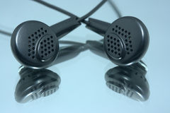 Pair of earphones Royalty Free Stock Photography