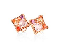 Pair of   earrings Royalty Free Stock Image