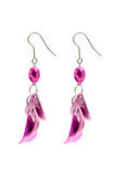 Pair of earrings stock photo