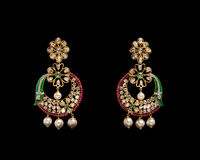 Pair of earrings Stock Photography