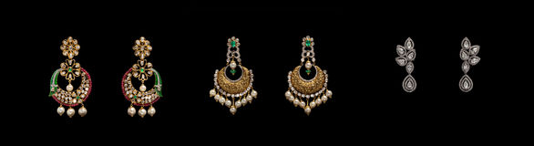 Pair of earrings Royalty Free Stock Photography