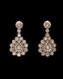 Pair of earrings Stock Photos