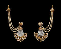 Pair of Earrings with diamonds Royalty Free Stock Photos