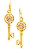 Pair of earrings isolated Stock Photography