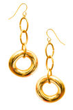 Pair of earrings isolated Stock Photos