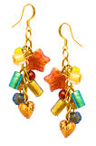 Pair of earrings isolated Royalty Free Stock Images