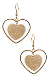 Pair of earrings isolated Royalty Free Stock Photography