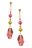 Pair of earrings isolated Royalty Free Stock Image