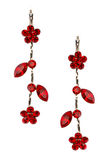 Pair of earrings isolated Stock Photo