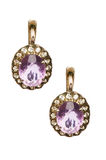 Pair of earrings isolated Royalty Free Stock Photo