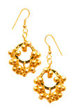 Pair of earrings isolated on the white background Royalty Free Stock Images