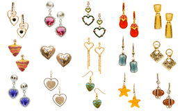 Pair of earrings Stock Image