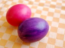 A pair of Easter eggs stock images