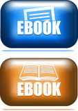 Pair of ebook icon button. Royalty Free Stock Image