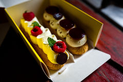 Pair of eclairs Royalty Free Stock Photos