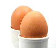 Pair of eggs Royalty Free Stock Image