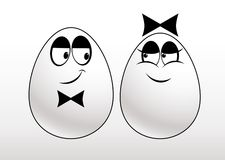Pair of eggs Stock Images