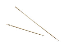 Pair embroidery needles Royalty Free Stock Photography