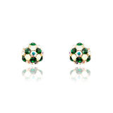 Pair of emerald earrings isolated Stock Photography