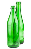 Pair of empty green bottles Royalty Free Stock Photography