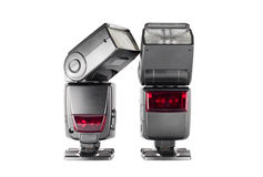 Pair of external flashes Stock Photos