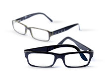 Pair of eye glasses. Pair of classic eye glasses, shallow DOF Stock Image