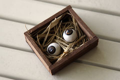Pair of eyeballs Royalty Free Stock Images