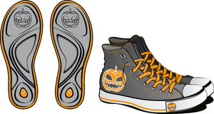 Pair of fancy shoes. For Halloween Stock Photography