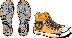 Pair of fancy shoes. For Halloween Stock Photos