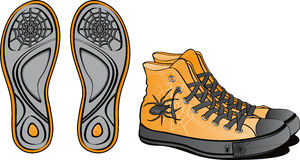 Pair of fancy shoes. For Halloween Royalty Free Stock Photography