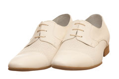 Pair of fashion men shoes Royalty Free Stock Photography