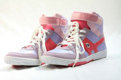 Pair of fashion sneakers Stock Photography
