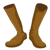 A pair of a fashionable brown boots Stock Photography