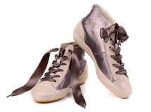 Pair of fashionable sneakers Royalty Free Stock Photo