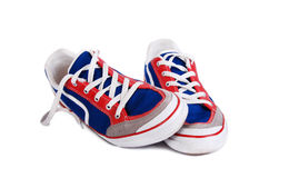 The pair of fashionable sport shoes Royalty Free Stock Images